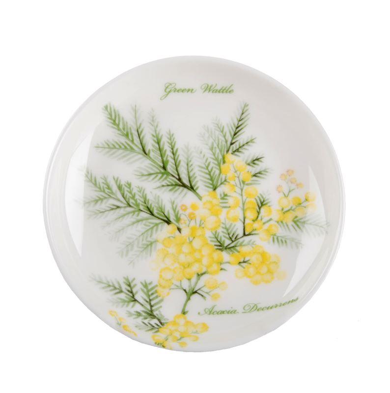 Dan Samuels Australia -Green WattleFine Bone China Plate/Coaster 10cm