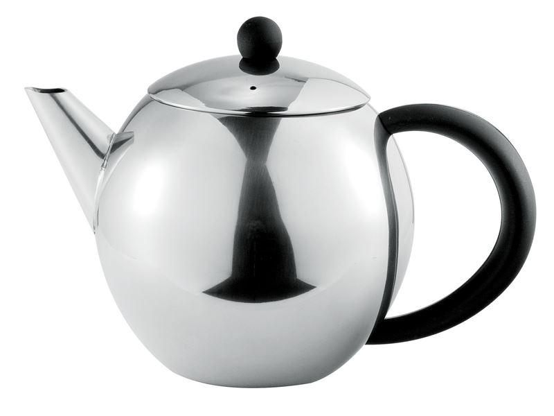 Benzer – Como Polished Steel Tea Pot 500ml 3 Cup