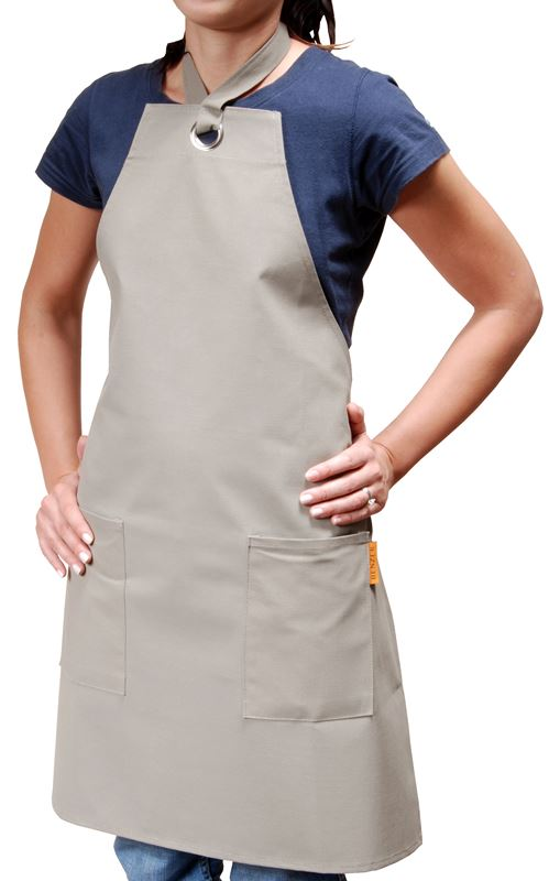 Benzer – Professional Apron with Double Pockets Taupe