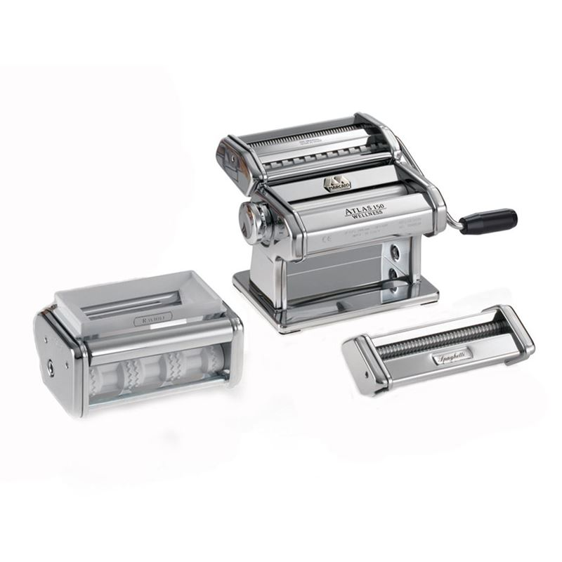Marcato – Atlas 150 Deluxe Pasta Maker – 5 Type (Made in Italy)