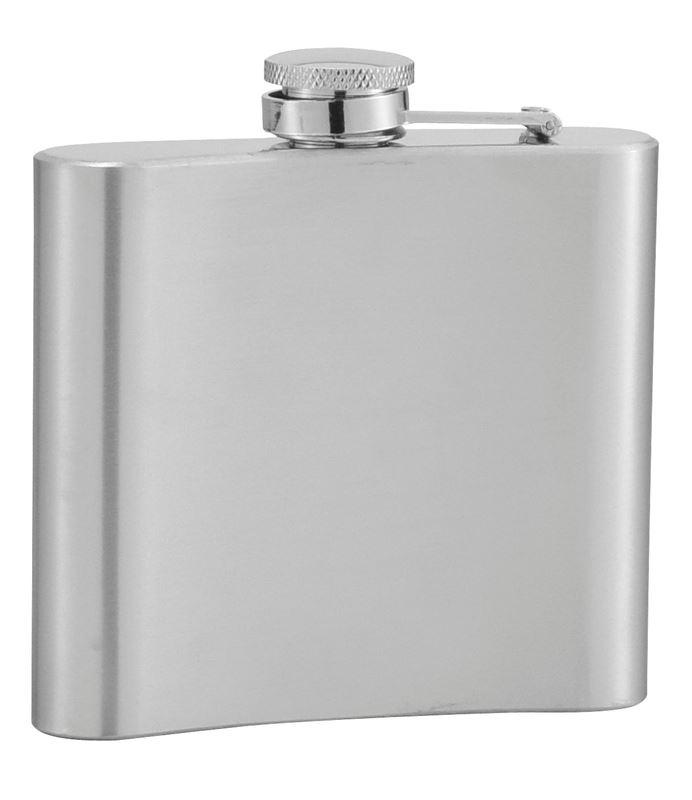 Benzer – Scots Pocket Flask Satin Steel 120ml