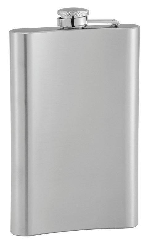 Benzer – Bar Scots Pocket Flask Satin Steel 260ml