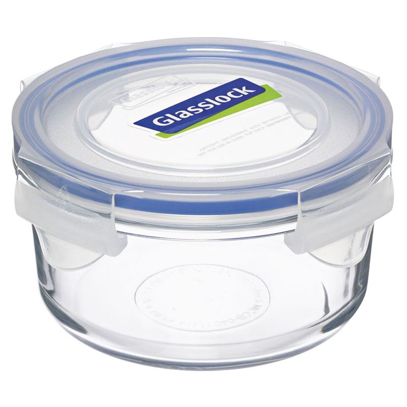 Glasslock – Round Tempered Glass Food Container 400ml