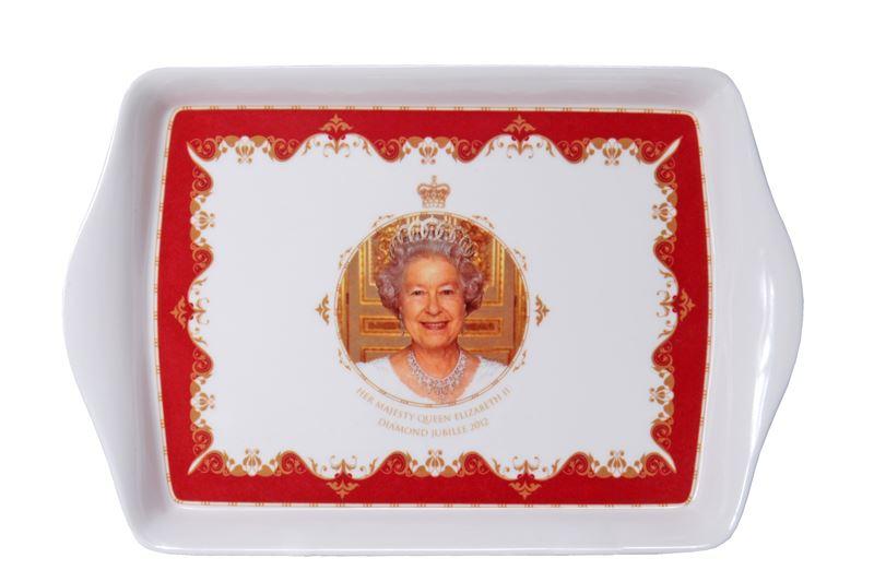 Royal Crest – Her Majesty Queen Elizabeth II Diamond Jubilee Scatter Tray 16x12cm