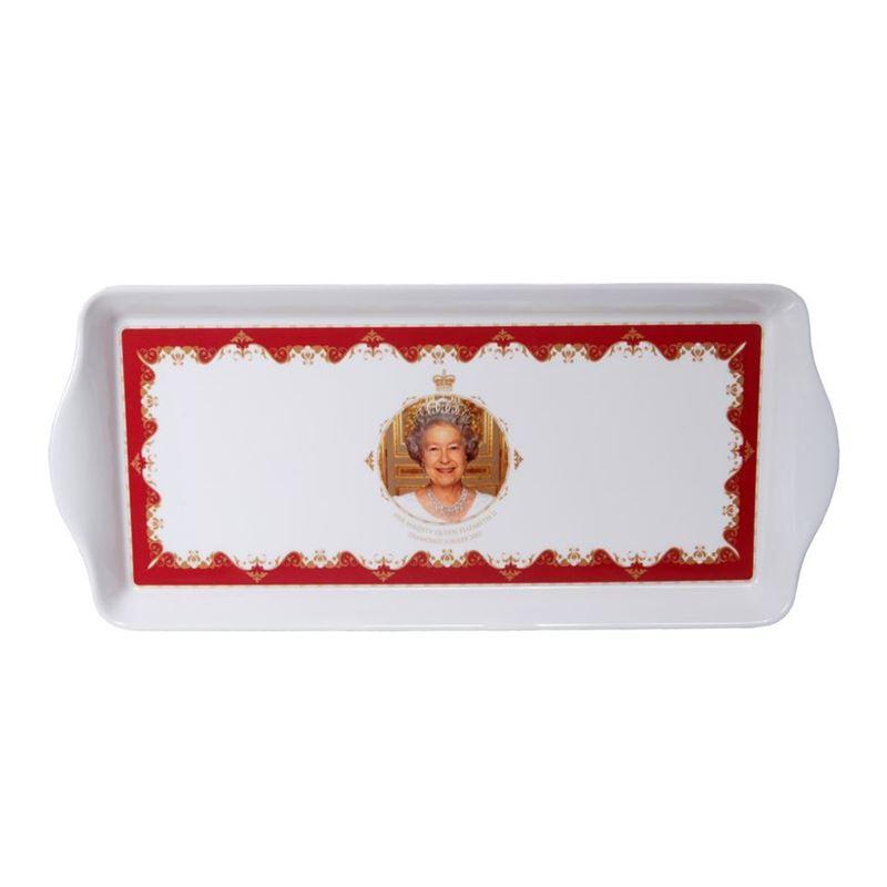 Royal Crest – Her Majesty Queen Elizabeth II Diamond Jubilee Sandwich Tray 39x17cm