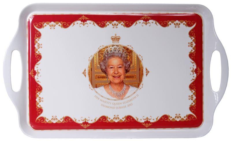 Royal Crest – Her Majesty Queen Elizabeth II Diamond Jubilee Serving Handled Tray 38×25.5cm