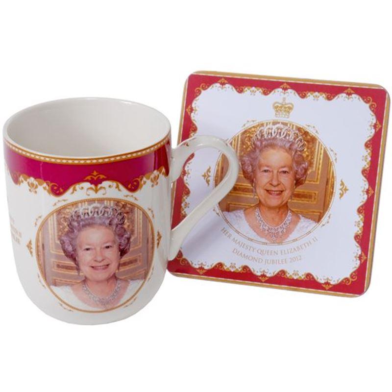 Royal Crest – Her Majesty Queen Elizabeth II Diamond Jubilee Heritage Fine China Mug and Coaster Set