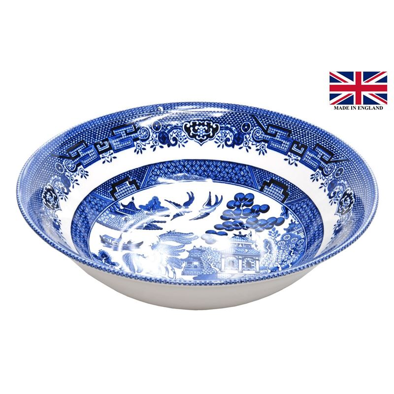 Queens by Churchill – Blue Willow Salad Bowl 24cm (Made in England)