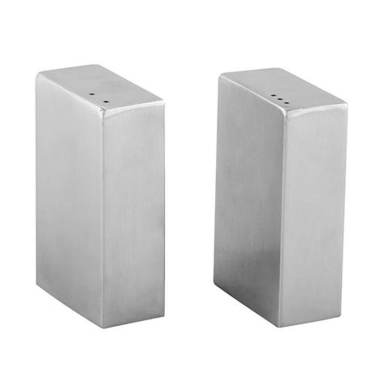 Zuhause – Blok Matt Steel Salt & Pepper Shakers