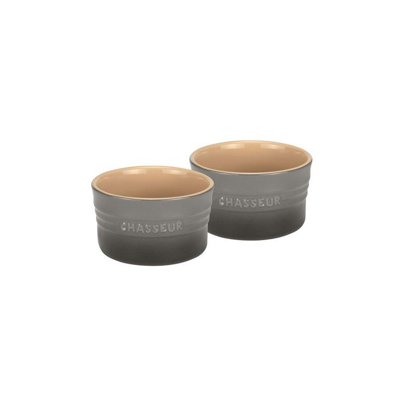 Chasseur – La Cuisson Ramekins set of 2 10cm 280ml Grey