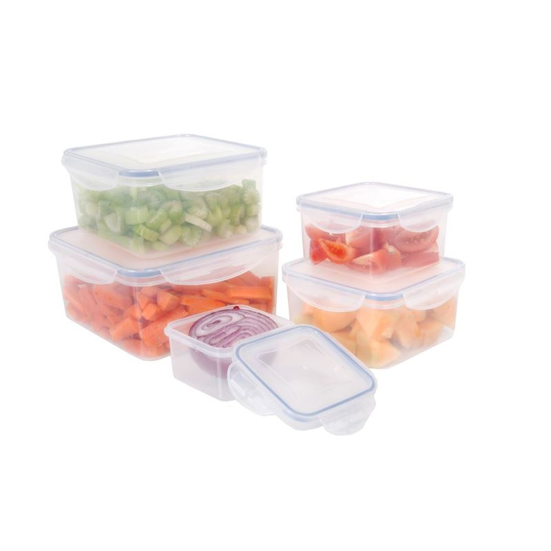 Benzer – Stor-Plus 5pc Square Plastic Food Storage Pack