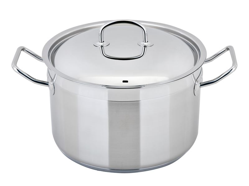 Benzer – Berlin Professional 18/10 Stainless Steel 24cm Covered Casserole 6.75Ltr