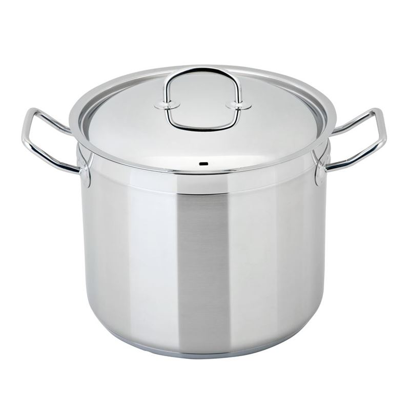 Benzer – Berlin Professional 18/10 Stainless Steel 24cm LARGE Covered Stockpot 9Ltr