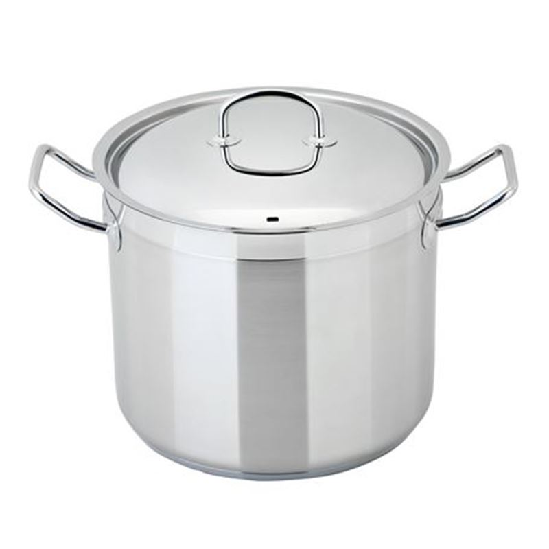 Benzer – Berlin Professional 18/10 Stainless Steel 15 LITRE 30cm GIANT Covered Stockpot