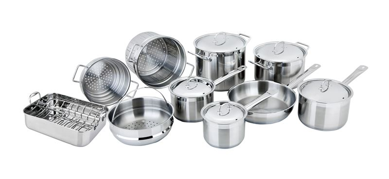 Benzer – Berlin Professional 18/10 Stainless 10pc Cookware Set