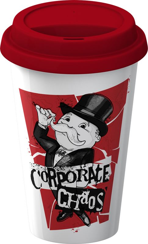 Monopoly – Double Wall Travel Mug with Silicone Lid Corporate Chaos