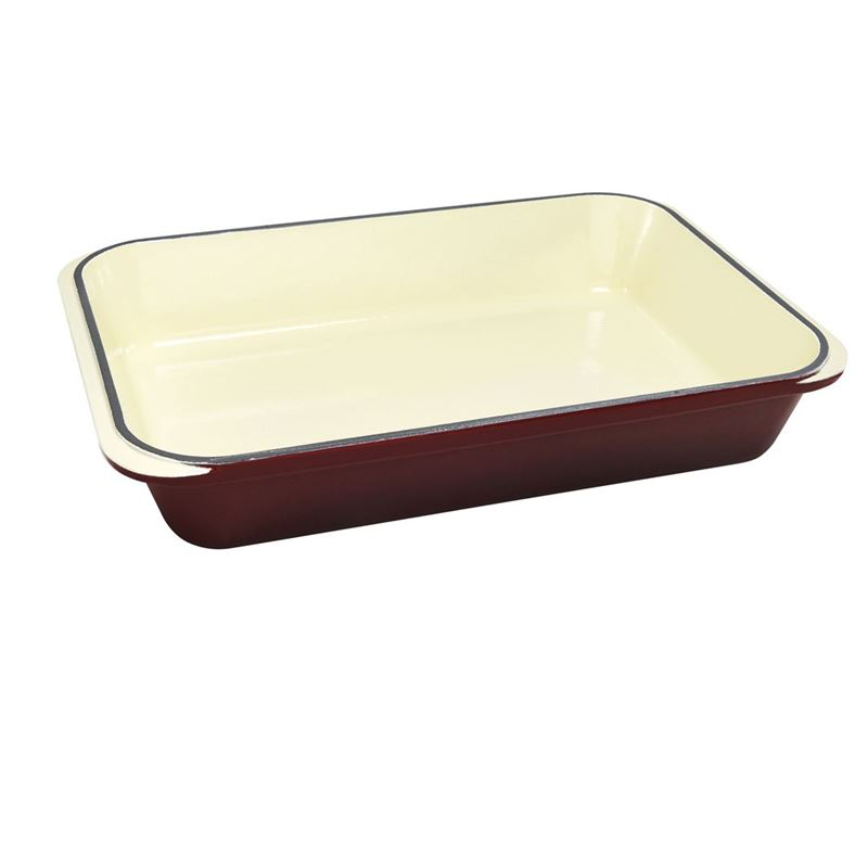 Chasseur Cast Iron – Wine RedRectangular Roasting Pan 40x26cm (Made in France)