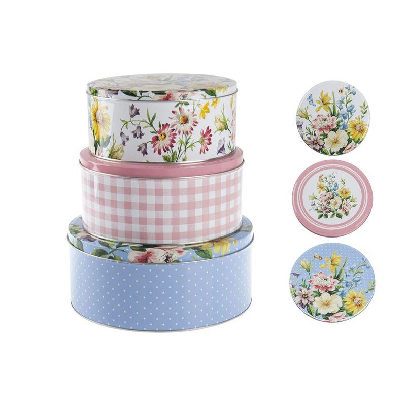 Katie Alice – English Garden Round Cake Tins set of 3