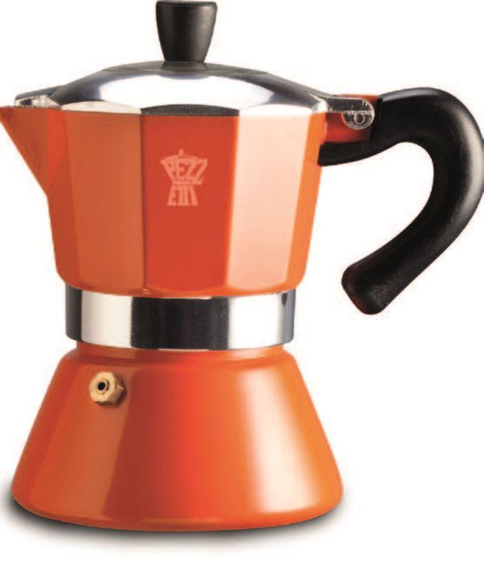 Pezzetti – Bellexpress Induction 6 Cup Coffee Maker Orange
