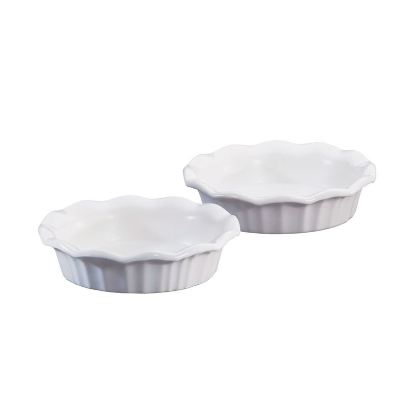CorningWare French White – Mini Pie Plates set 2