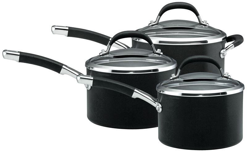 Circulon – Professional 3pc Covered Saucepan Set