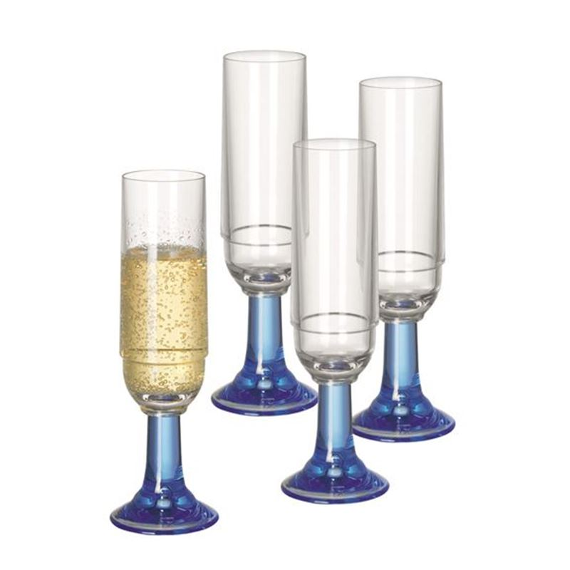Serroni – Ventetian Blue Champagne Glass 220ml set of 4