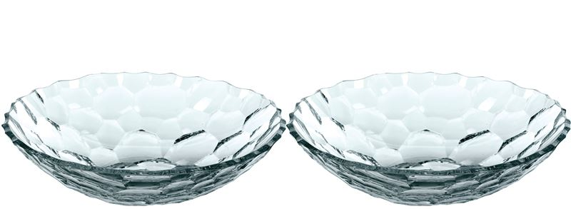 Nachtmann Crystal – Sphere SET OF TWO Serving Bowls 25cm  (Made in Germany)
