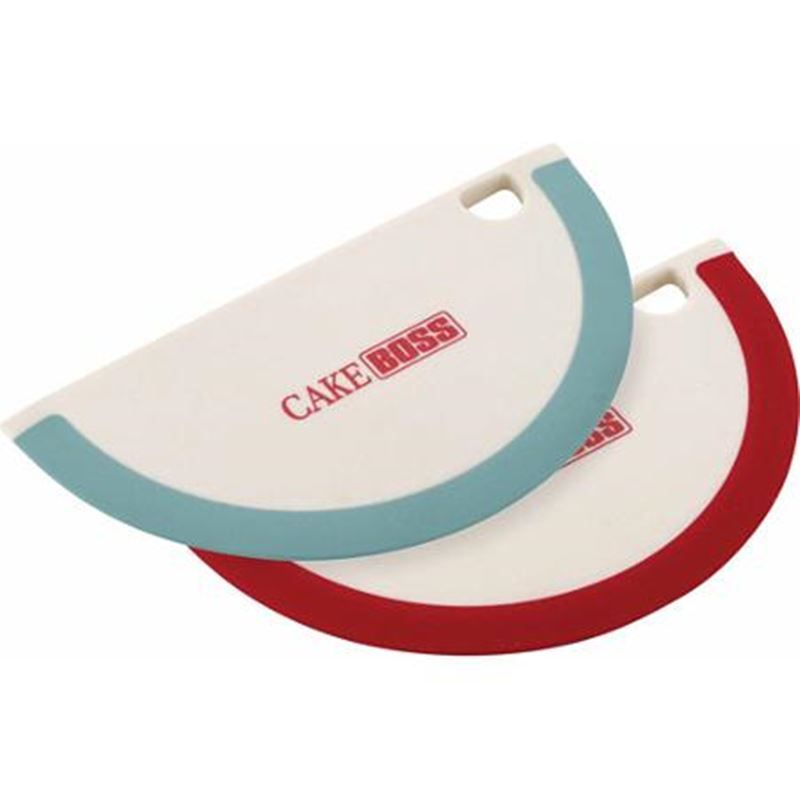 Cake Boss – Silicone Edged Bowl Scrapers set of 2