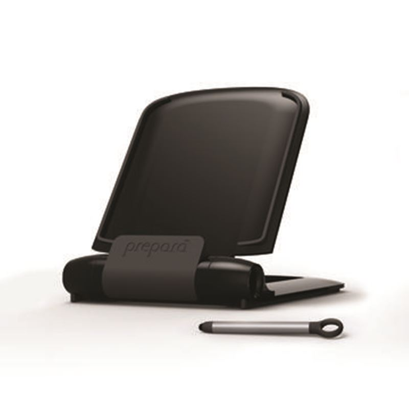 Prepara – iPrep Cookbook Stand for Tablets with Stylus Black