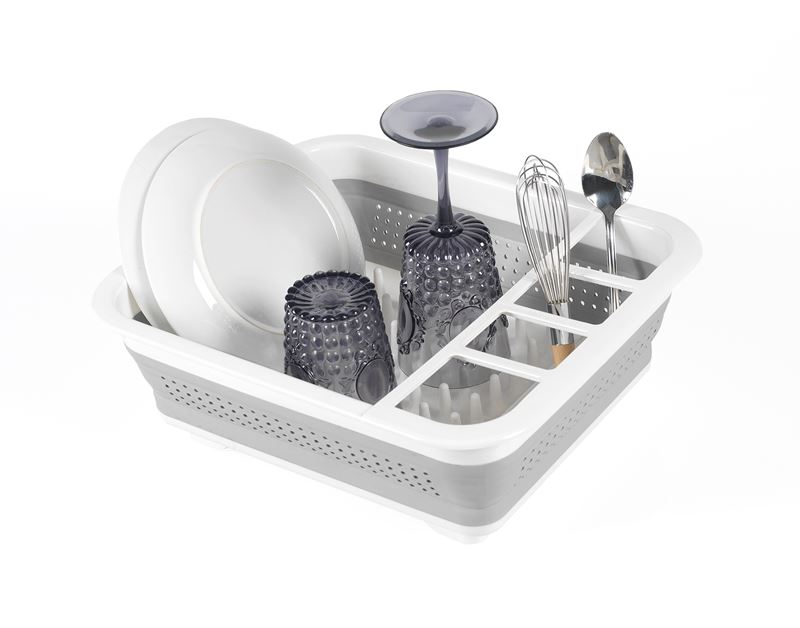Made Smart – Small Collapsible Dishrack 36.8×31.5cm White