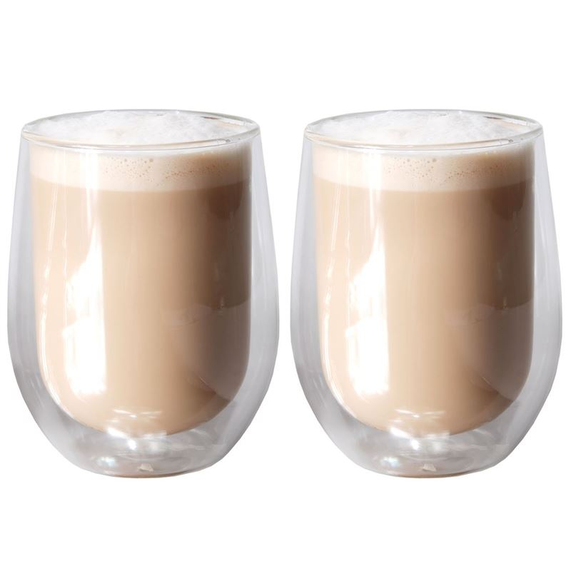 Zuhause – Uber Set of 2 Double Wall Thermo Latte Glasses 280ml