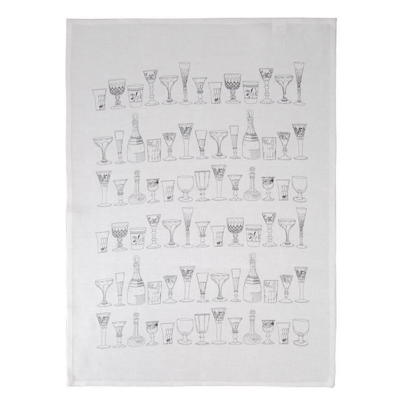 Dan Samuels – Vintage Glass 100% Linen Tea Towel 50x70cm