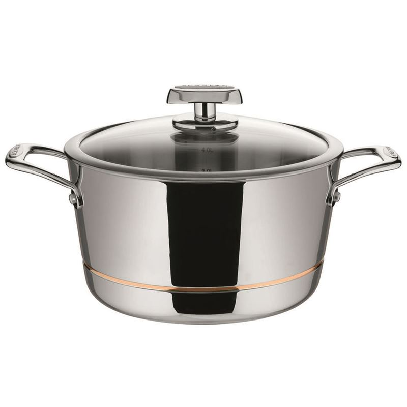 Scanpan – Axis Covered Dutch Oven 24cm 5.2Ltr – 5 Layer Stainless Steel with Copper Core