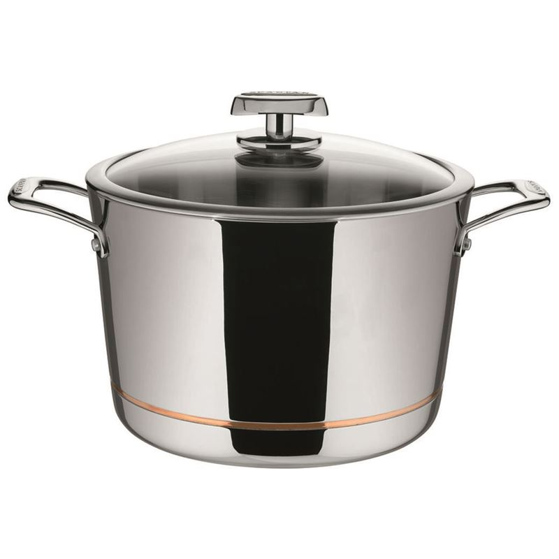 Scanpan – Axis Covered Stockpot 26cm 7.2Ltr – 5 Layer Stainless Steel with Copper Core