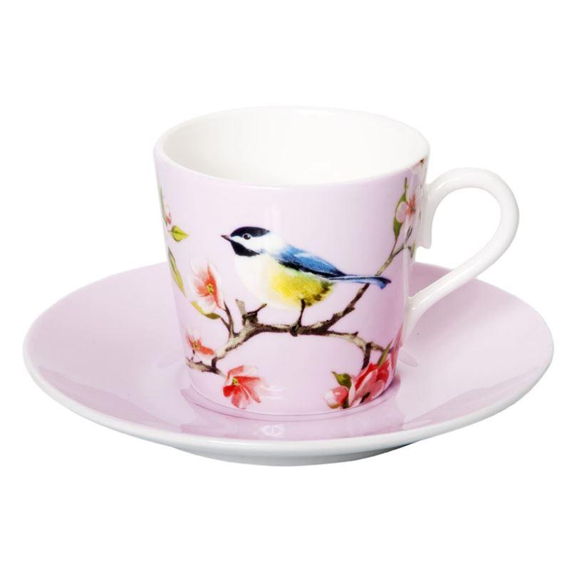 Dan Samuels – Blossom Bird Fine Bone China Espresso Cup and Saucer Set 80ml Pink