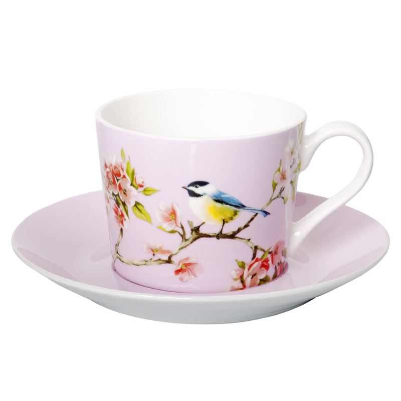Dan Samuels – Blossom Bird Fine Bone China Tea Cup and Saucer Set 250ml Pink