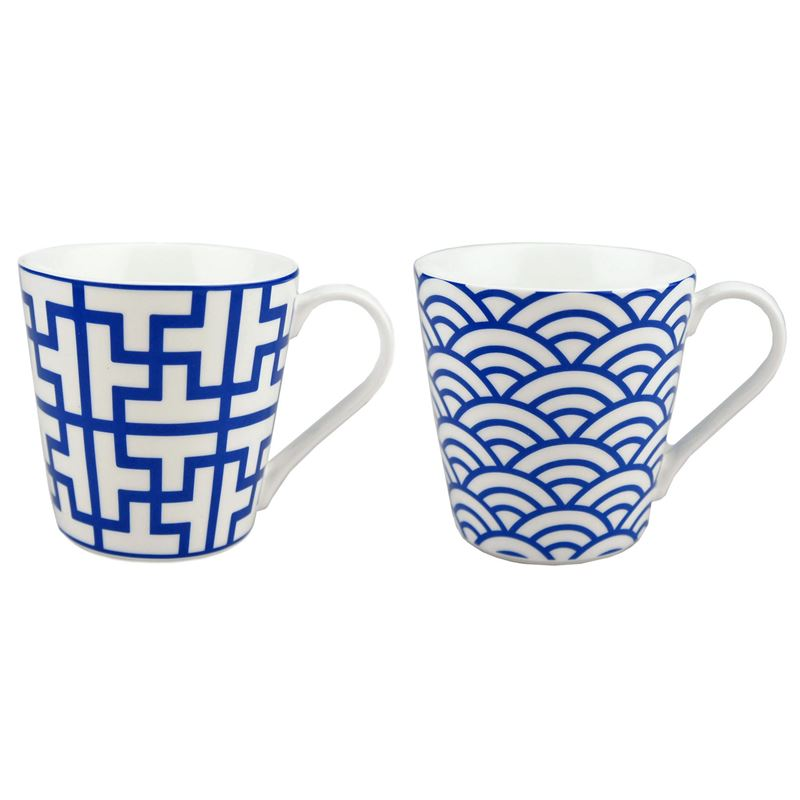 Dan Samuels – Moda Fine China Set of 2 Mugs 250ml Sapphire