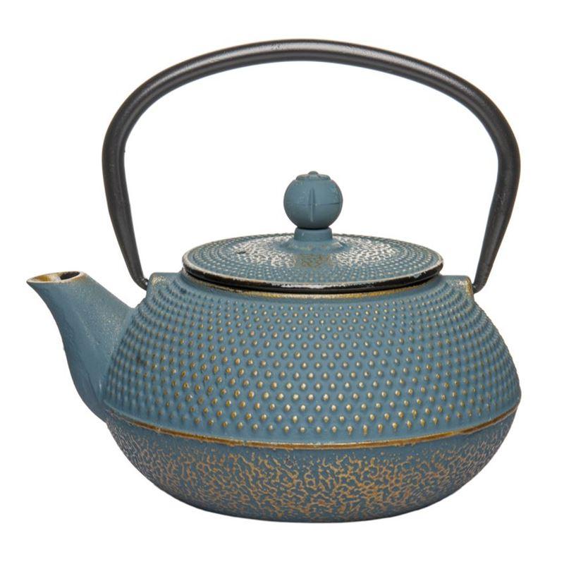 Benzer – Orient Express Zen Cast Iron Tea Pot Golden Blue 800ml
