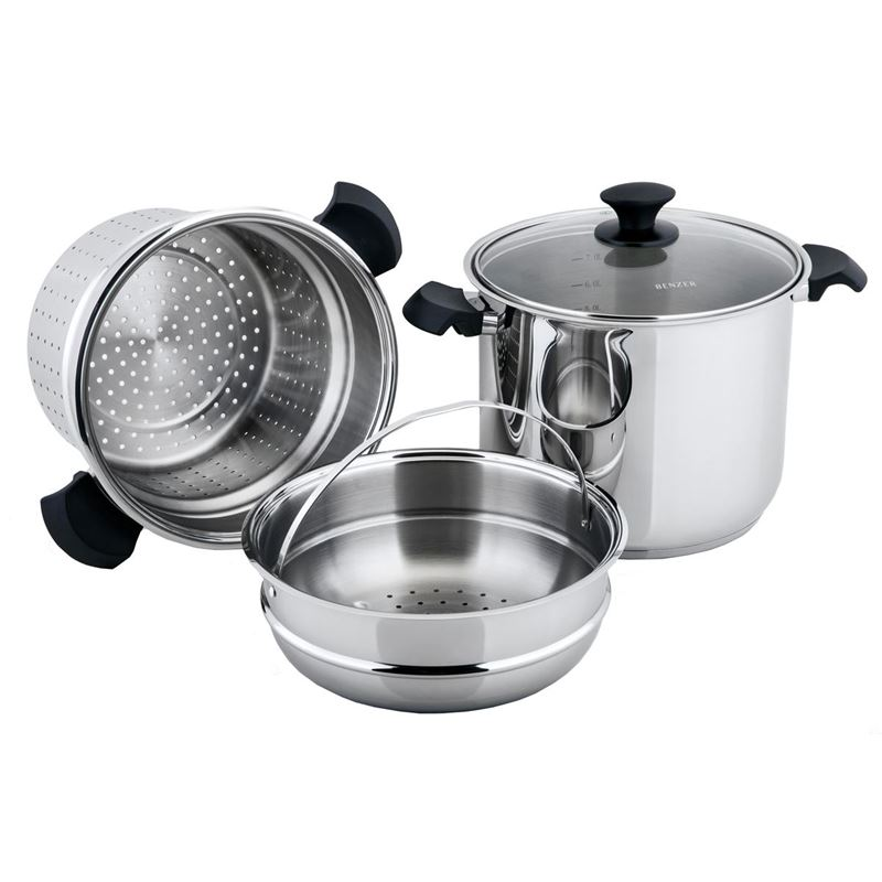 Benzer – Rosti 24cm 9Ltr Multi-Pot with Lid 18/10 Stainless Steel