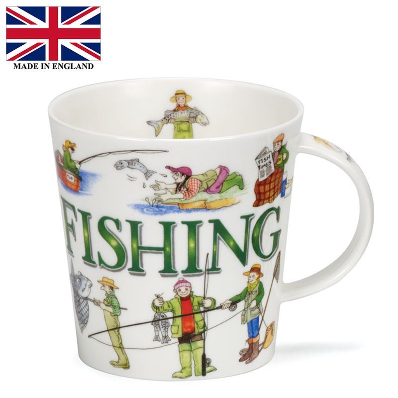 Dunoon – Cairngorm Bone China Mug Sporting Antics Fishing (Made in England)