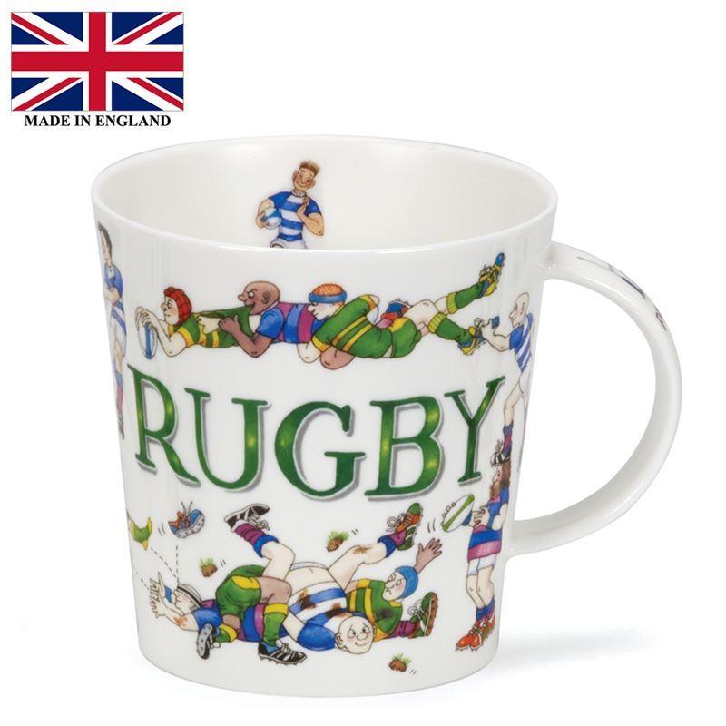 Dunoon – Cairngorm Bone China Mug Sporting Antics Rugby (Made in England)