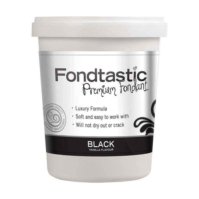Fondtastic – Premium Rolled Vanilla Flavoured Fondant Black 908g (Made in Canada)