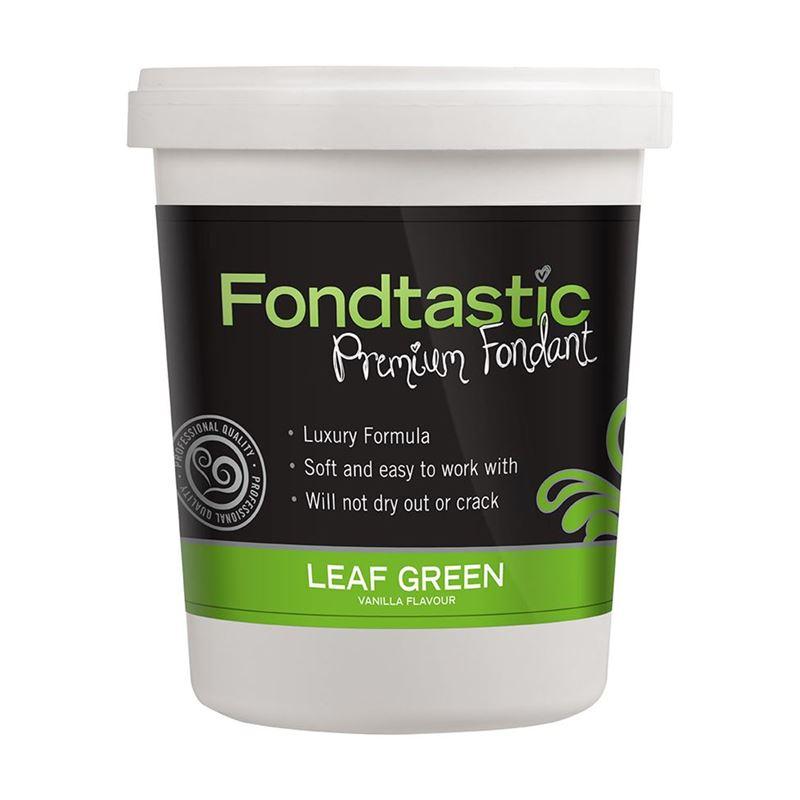Fondtastic – Premium Rolled Vanilla Flavoured Fondant Leaf Green 908g (Made in Canada)