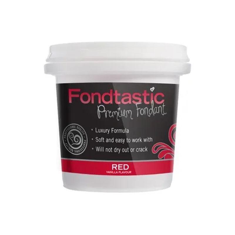 Fondtastic – Mini Premium Rolled Vanilla Flavoured Fondant Dark Red 226g (Made in Canada)