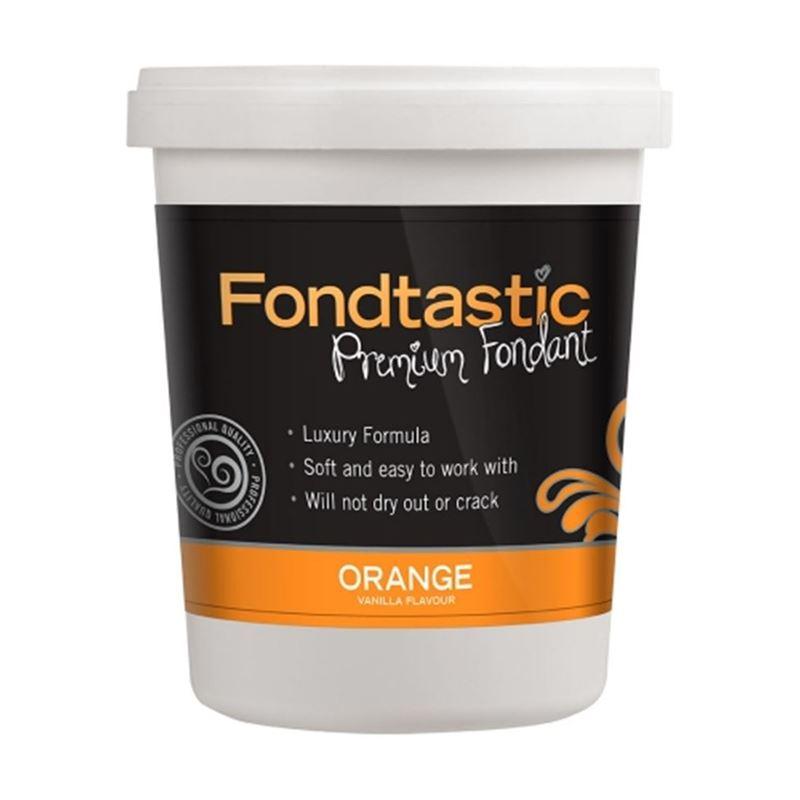 Fondtastic – Mini Premium Rolled Vanilla Flavoured Fondant Orange 226g (Made in Canada)