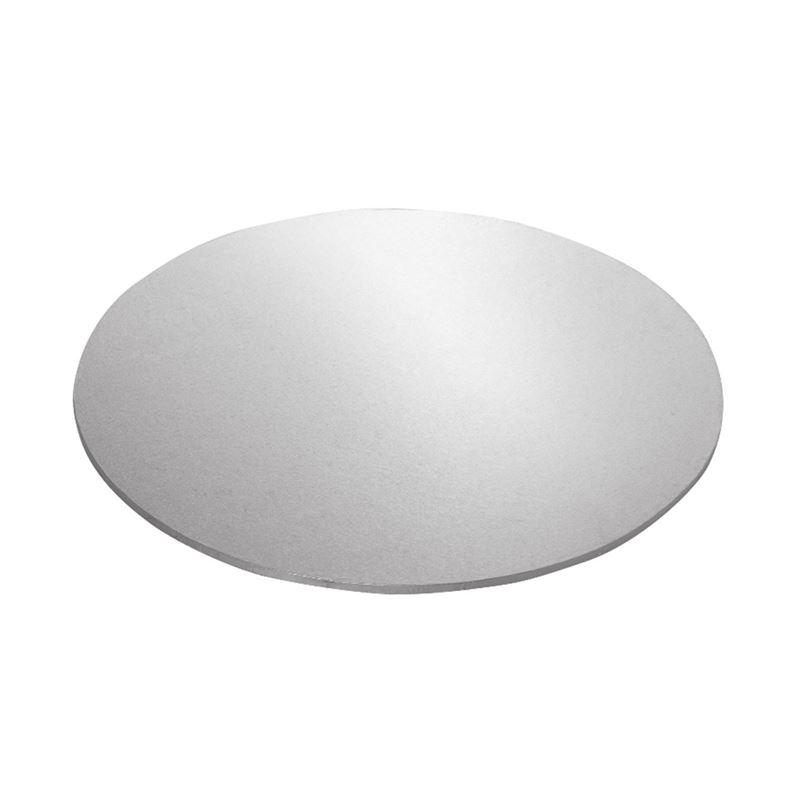 Mondo – Cake Board Round Silver Foiled Masonite 18″/45.5cm