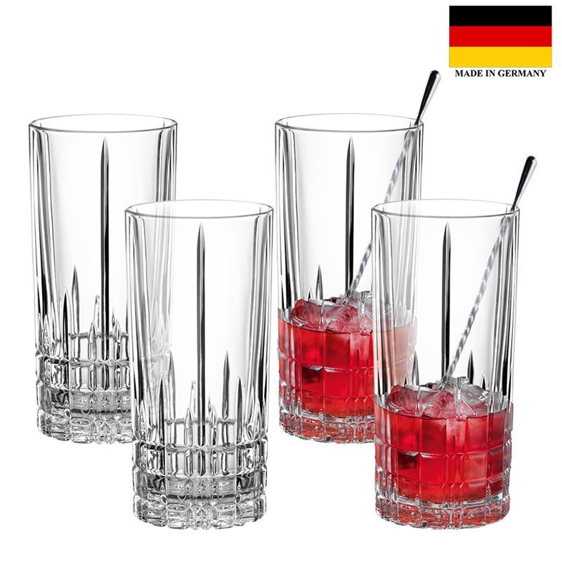 Spiegelau – Perfect Serve Collection by Stephan Hinz Long Drink 350ml Set of 4 (Made in Germany)