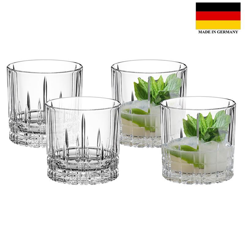 Spiegelau – Perfect Serve Collection by Stephan Hinz Single Old Fashioned 270ml Set of 4 (Made in Germany)