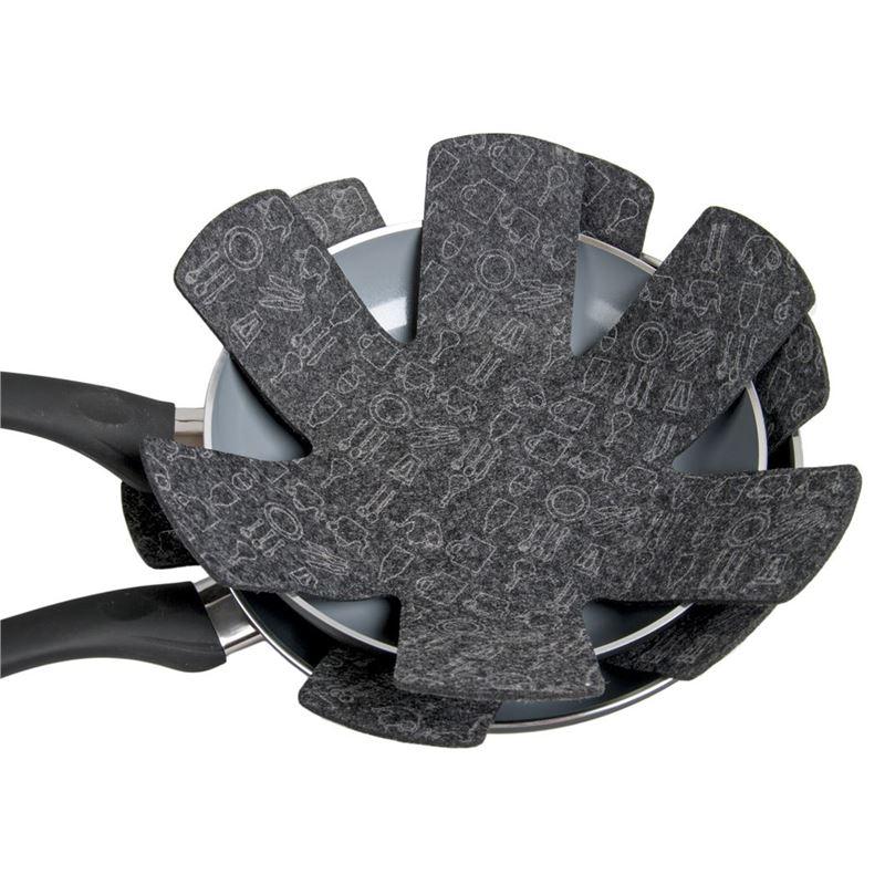 Appetito – Pot and Pan Felt Protectors set of 2 Charcoal Grey