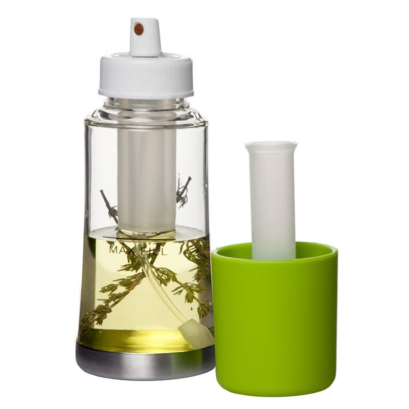 Salad Bar – Clear Oil Sprayer with Green Soft Touch Top
